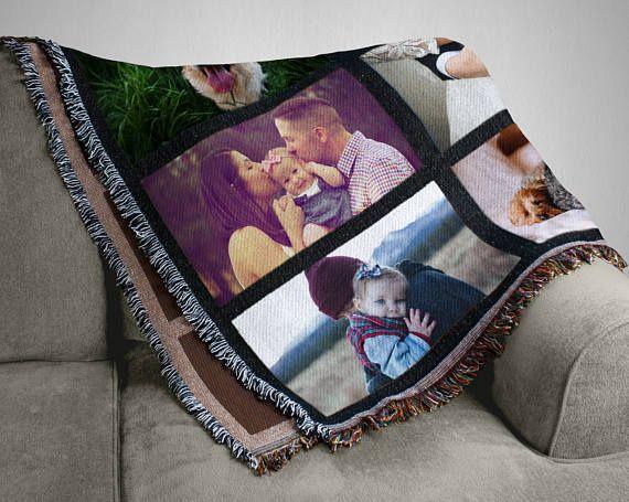 Photo blanket, Personalized Throw Blanket, Custom Blanket, Personalized Blanket, Picture Blanket, Family Pictures, Throw Blanket, Photo Gift #ad