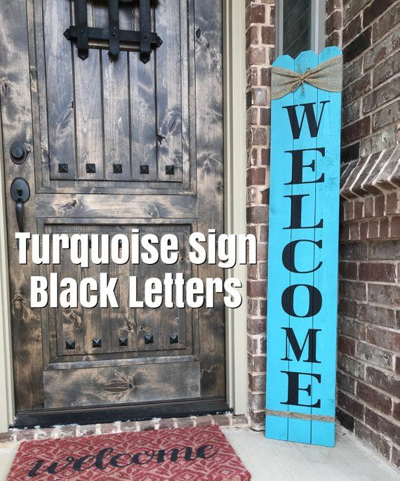 Rustic Welcome Sign 58 Tall Welcome Sign For Front Door
