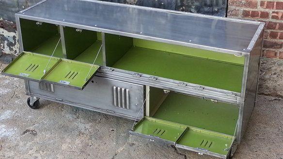 Vintage Repurposed Steel Locker Console Cabinet in Brooklyn, New York ~ Krrb Classifieds