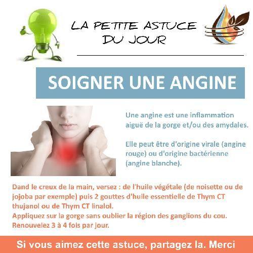 soigner angine avec l'huile essentielle de thym