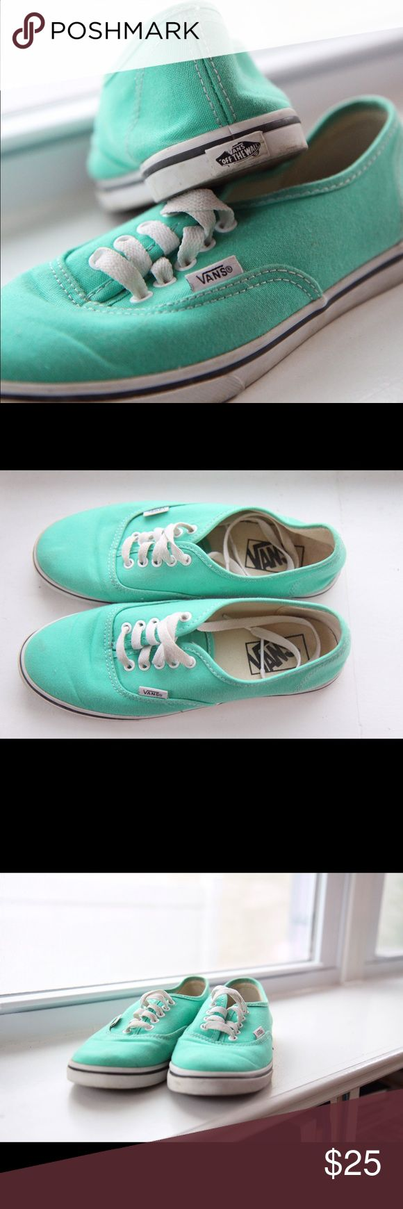 Teal Vans Authentic Shoe Low top, lace-up Vans shoes. Tealish size 7 women's. Vans Shoes Sneakers