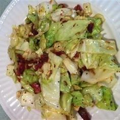 This dish was always a favorite at Mammaw's house. Cabbage is fried with onion and bacon in this simple quick side dish. Terrific with cornbread.