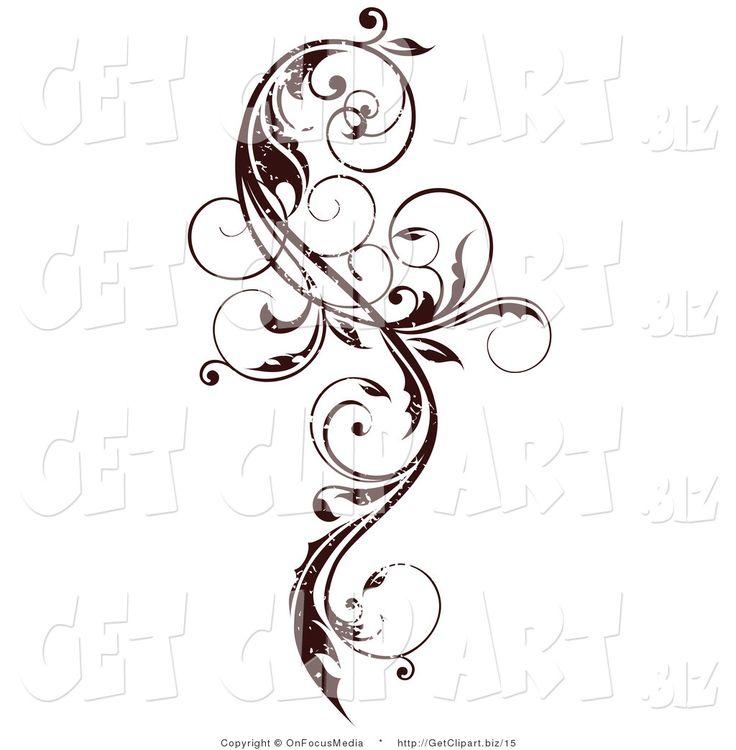 Curly Vine Scroll Design