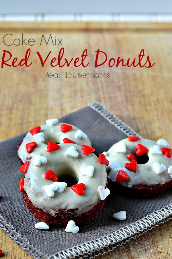 Cake Mix Red Velvet Donuts Recipe ~ so easy to make and they are out of this world good.