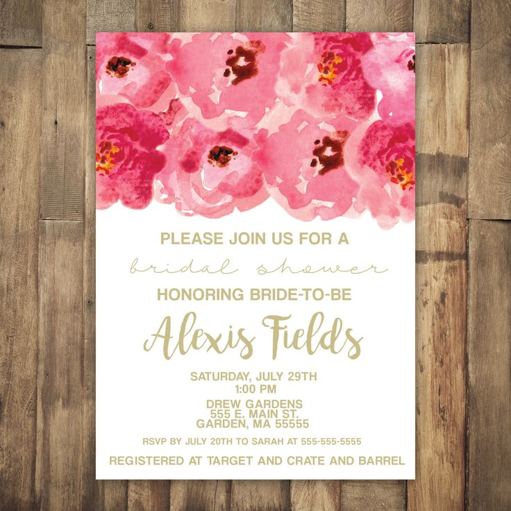 not on the high street winter wedding invitations%0A Printable Pink Peony Bridal Shower Invitation  Pink and Gold  Floral  Coral  and Gold  Wedding Invitation