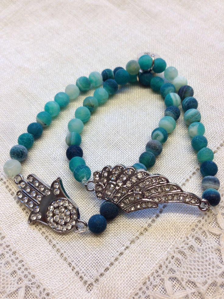 Armband med turkosa agater