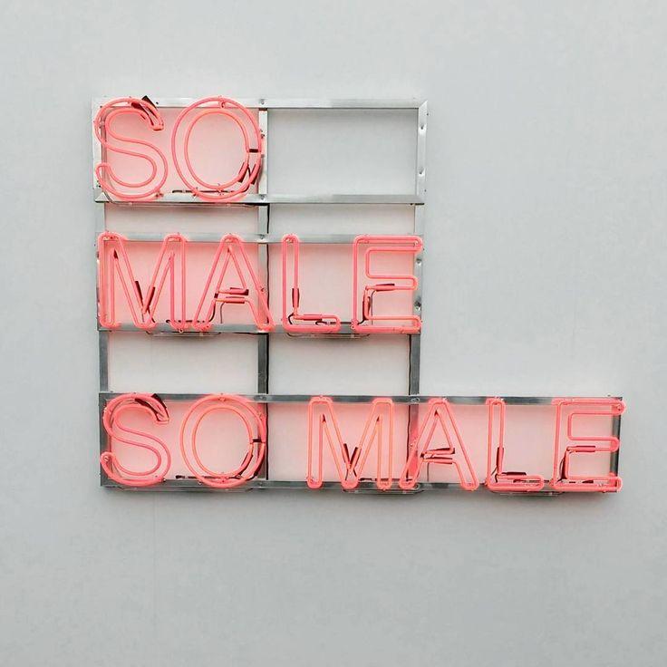"""""""So Male So Male"""" by Monica Bonvicini"""