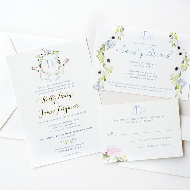 738 best stationery invitations and pretty paper images on design in watercolor by wedding invitation stopboris Gallery