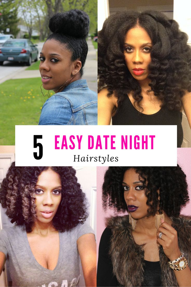 5 easy date night hairstyles | natural hair 101 | date night