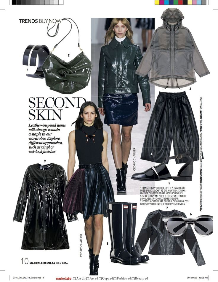 #Nicci #leather #cullotes featured in @marieclairesa #July16 issue