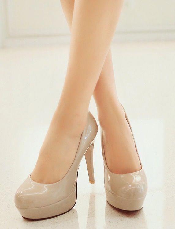 ec44da78a92 high heels platform pumps - nude, skin color, beige #Platformpumps ...