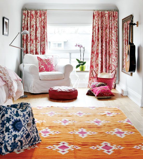 A comfortable and chic sitting area in a master bedroom {PHOTO: Virginia Macdonald}