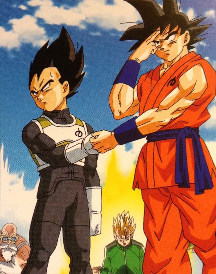 Vegeta hates holding hands with Goku