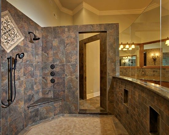 Ceramic Tile Walk In Showers Designs Design Ideas, Pictures, Remodel And  Decor
