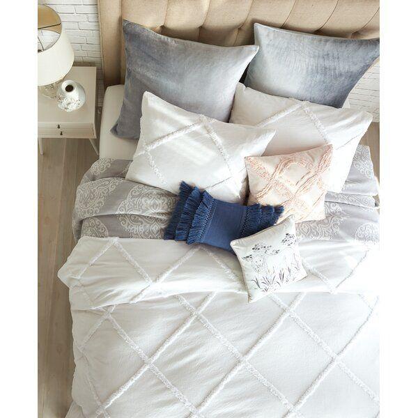 Ackerman Chenille Lattice Single Duvet Cover Comforter Sets Peri Home Single Duvet