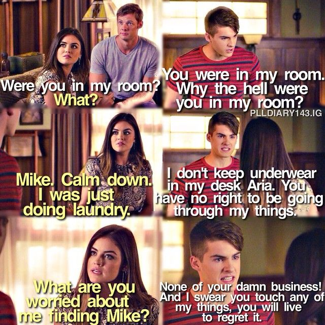 """#PLL 5x20 """"Pretty Isn't the Point"""" - Mike, Aria and Andrew"""