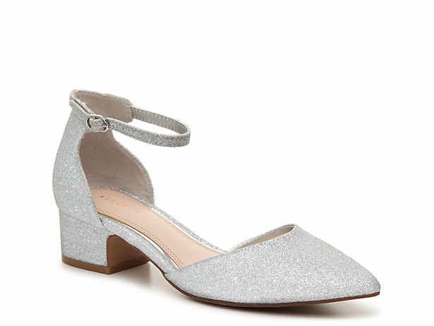 Women S Silver Low Heel 1 2 Mid Heel 2 3 Evening Wedding Shoes Size 7 Dsw Silver Shoes Low Heel Silver Low Heels Silver Wedding Shoes Low Heel