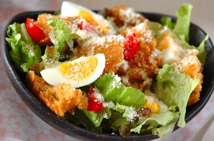 シーザーサラダのレシピ・作り方 - 簡単プロの料理レシピ | E・レシピ
