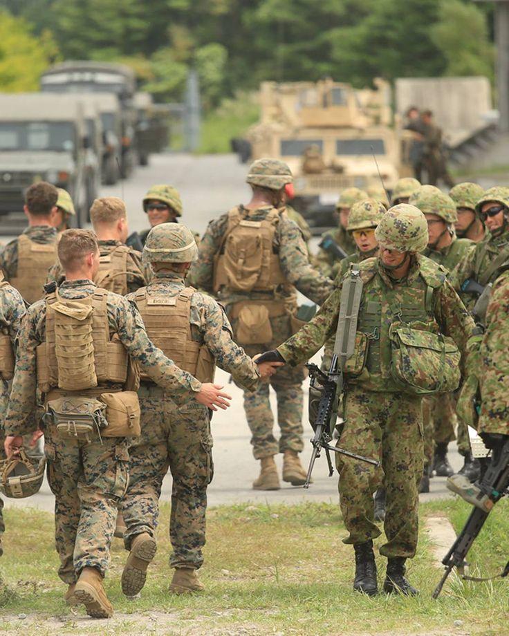 US Marines and JGSDF