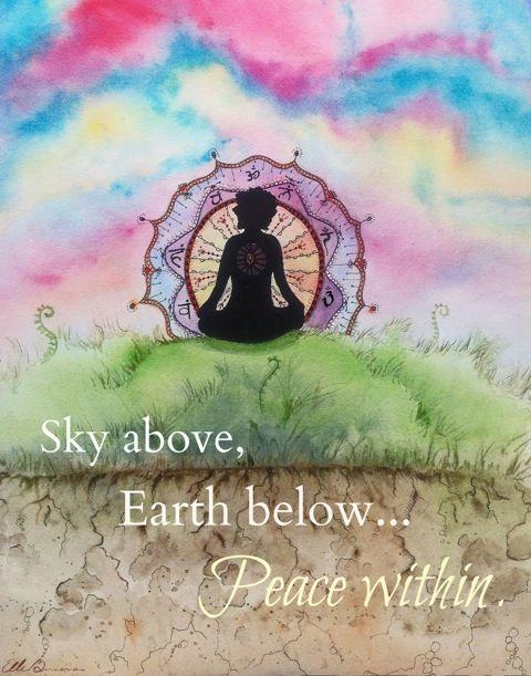 The Yoga Art of Ellen Brenneman Inner Peace 16x20 Canvas on sale @ www.downdogboutique.com #YogaHome #Yoga #YogaArt