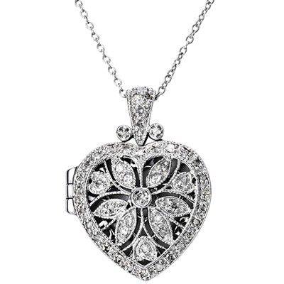 Sterling Silver Jewellery, Heart Locket Necklace