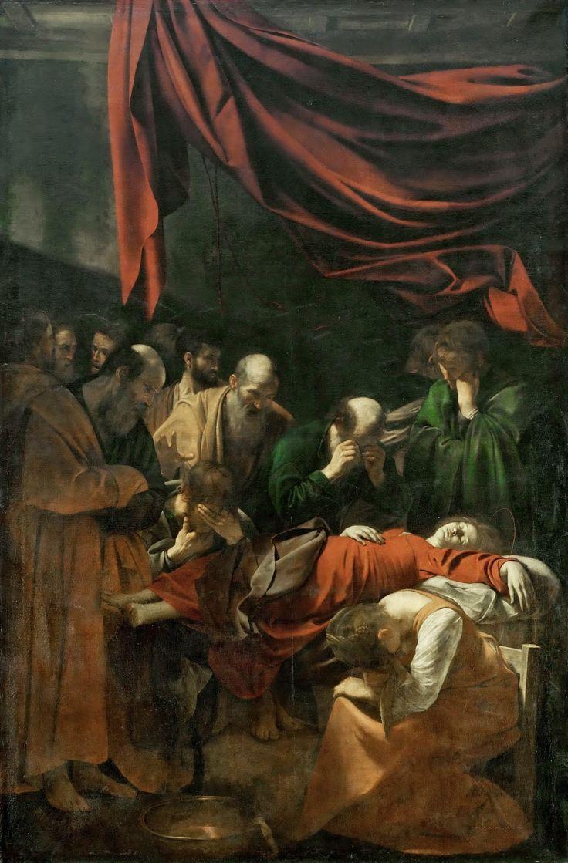 Caravaggio - Death of the Virgin [1604-06]  #17th #Classic #Michelangelo #Merisi da #Caravaggio #Painting The #Virgin