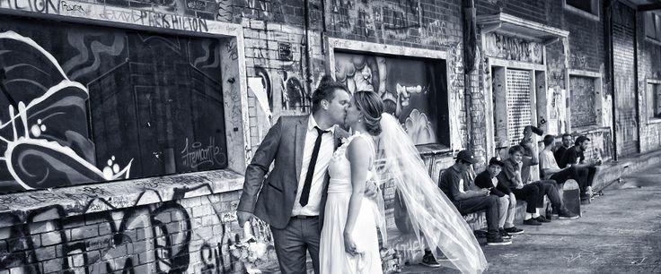 Urban wedding photo #unique #weddingshot