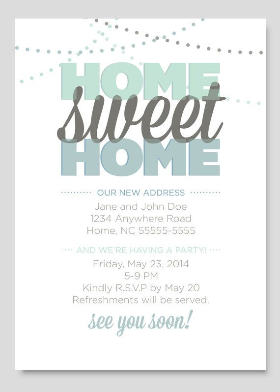 17 Best Images About Housewarming On Pinterest Digital Invitations Open House Invitation And