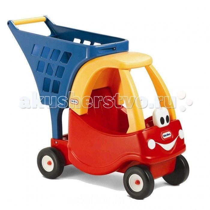 Каталка-игрушка Little Tikes Машинка  Уютная машинка с улыбающимся лицом поможет детям при покупке. Автомобиль с корзиной могут быть использованы при посещении реальных магазинов, но это также отличная идея для развлечения.  Игрушка может быть использована как для перевозки мягких игрушек и кукол.  Дети могут использовать ее как на улице, так и в помещении. Автомобиль с корзиной стимулирует воображение детей, поощряет создание и воспроизведение сцены ситуационных ролей.  Размер: 68 х 26 х 57…