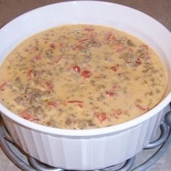 Crack Dip - 1 lb. spicy sausage, drained can rotel, 3 blocks cream cheese - cook ground sausage, drain..melt cream cheese in crock pot, add drained rotel and mix in sausage...dip Frito scoops OMG YUM!