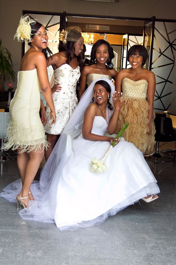 6fab3b42c66 Modern Gold and Cream South African Wedding