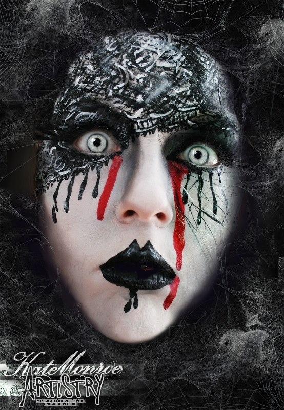 101 best creative face paint images on pinterest for Gothic painting ideas