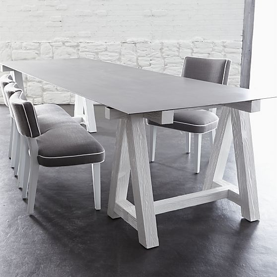 Como Sawhorse Dining Table in Dining Tables   Crate and Barrel