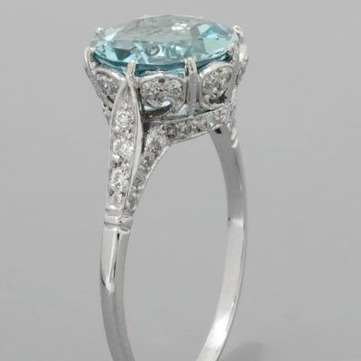 Aquamarine - another right hand ring :)