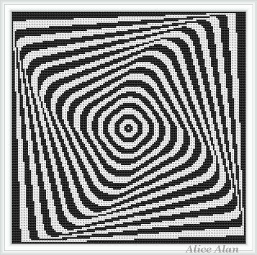 Black and white abstract pattern with optical effect от HallStitch