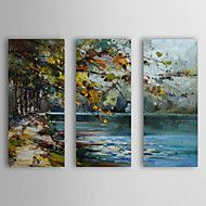Hand-Painted+Landscape+Three+Panels+Canvas+Oil+Painting+For+Home+Decoration+–+GBP+£+171.34
