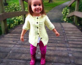 Cardigan, Button down cardigan, Yellow sweater, winter sweater, toddler cardigan, long cardigan, gift for girls