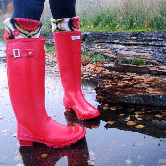 aa73088908339 SLUGS Fleece Rain Boot Liners Solid Black With Glitter Cuff, Tall ...