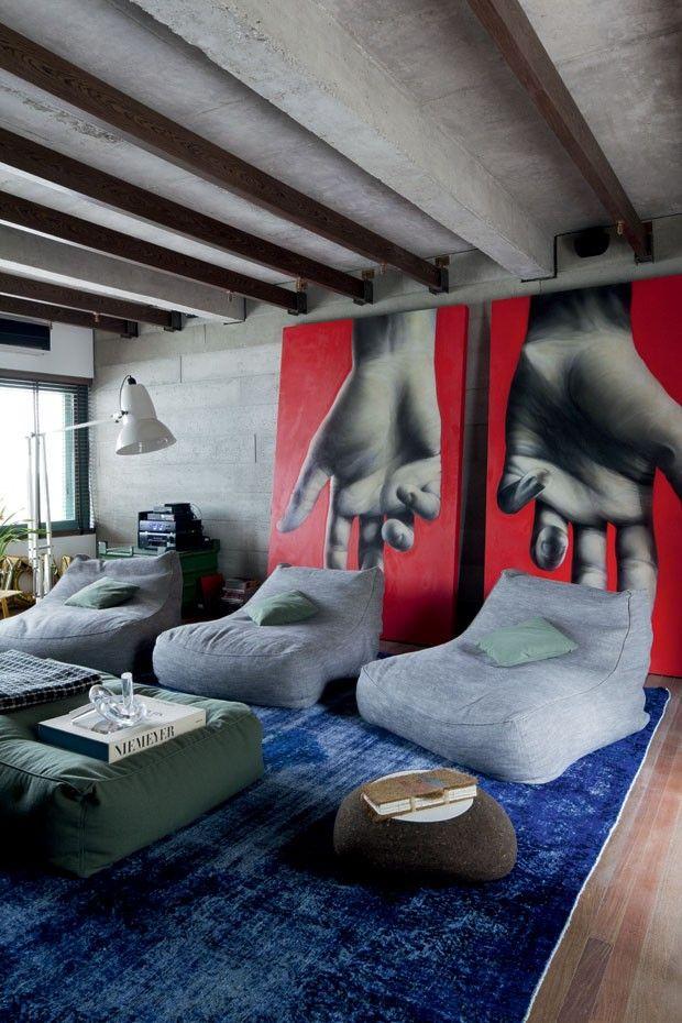 Modern lounge color /Casa Marcello Maksoud (Foto: Filippo Banberghi)                                                                                                                                                                                 More