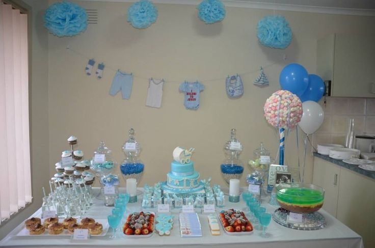Tiny Feet themed Candy Buffet for a Baby Shower. Styled & Designed by Oh So Sweet Candy Buffet Styling & Hire.