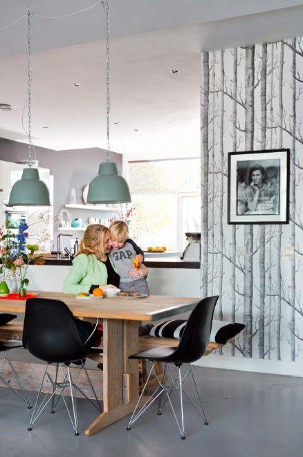 Cole & Son behang Woods - zwart/ wit - Femkeido Shop