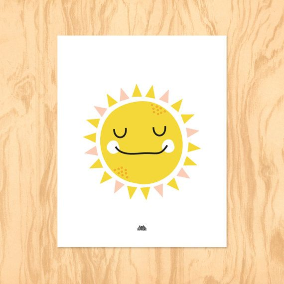 SUNNY SMILES : Printable Art Nursery Art Kids Wall by LittleKipper