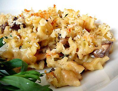 Mushroom Herb Mac and Cheese