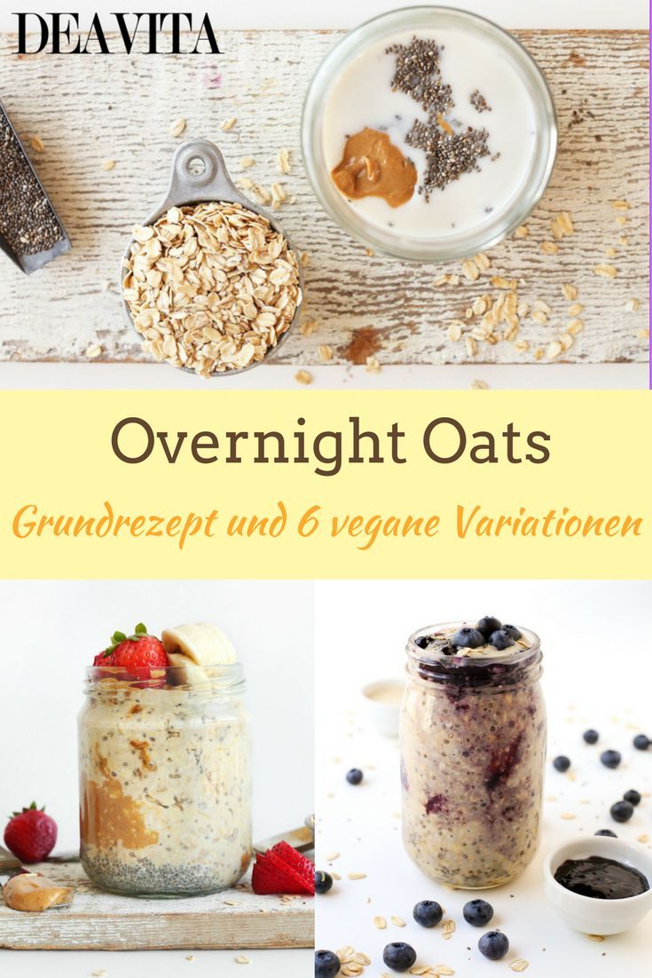 """Overnight Oats oder auf Deutsch """"Haferflocken über Nacht"""" ist ein """"magisches"""" Frühstück, das bis auf der Grundzutat nichts mit der schmackhaften Erinnerung aus der Kindheit gemeinsam hat."""