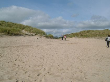 Curracole Beach , Co Wexford  Curracloe is long wide fine stretch of beach perfect for family entertainment.