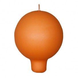 Pintavärjätty kannallinen pallokynttilä, oranssi