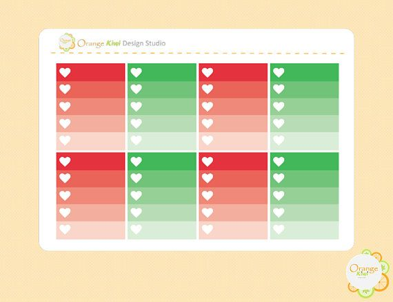 Christmas Ombre Checkbox Stickers Christmas Weekly Kit