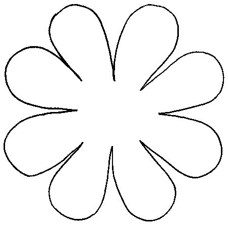 101 best images about 3 d flower petal patterns on for Daisy cut out template