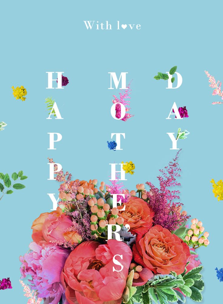 Floral typography design by Sandra Castillo. Mother's Day Poster. Flowers & Type on Behance