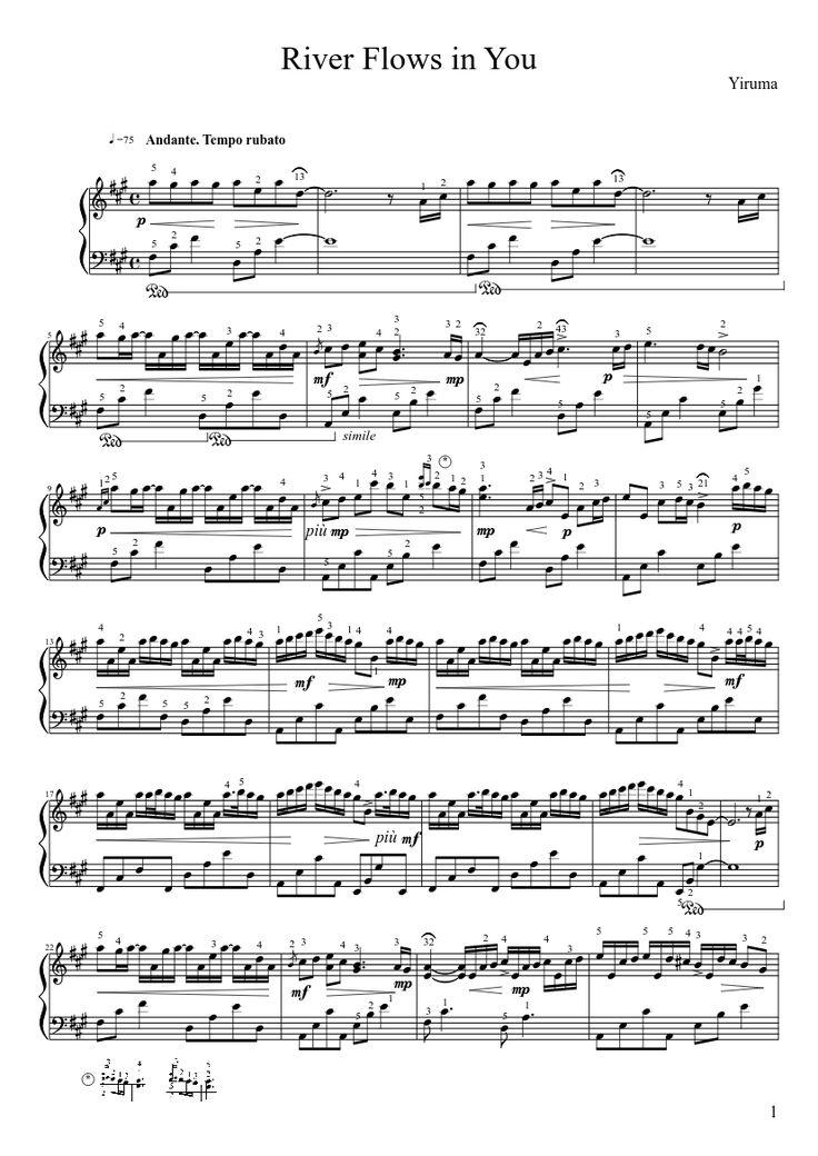 Yiruma - River Flows in You (original score)